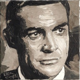 007 James Bond actors portrait painting by Peter Engels