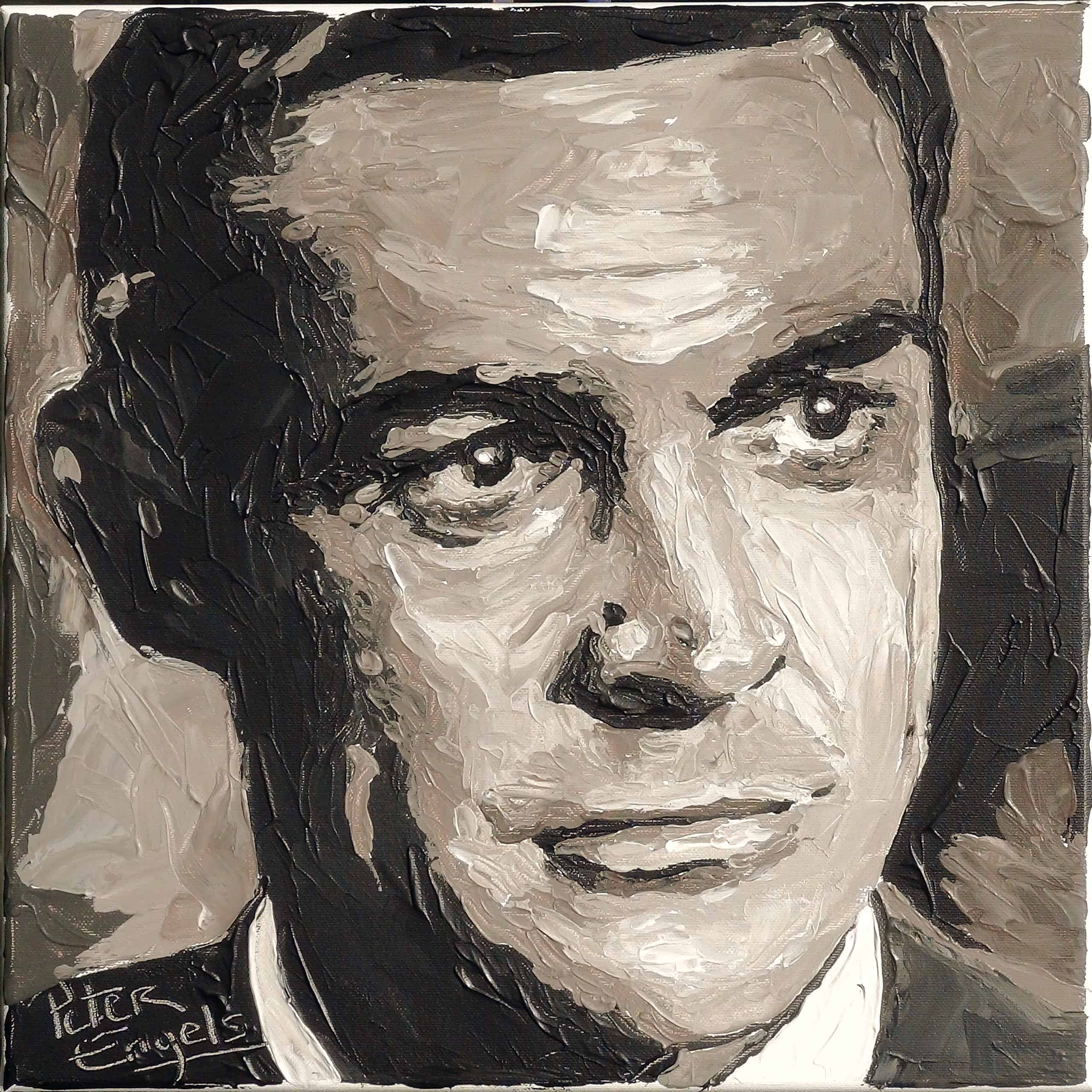 James Bond Actors Sold Portrait Painting By Artist Peter Engels