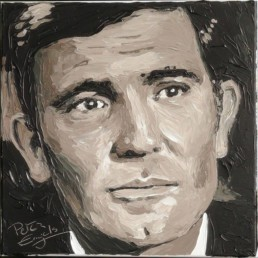 007 James Bond George Lazenby portrait painting by Peter Engels