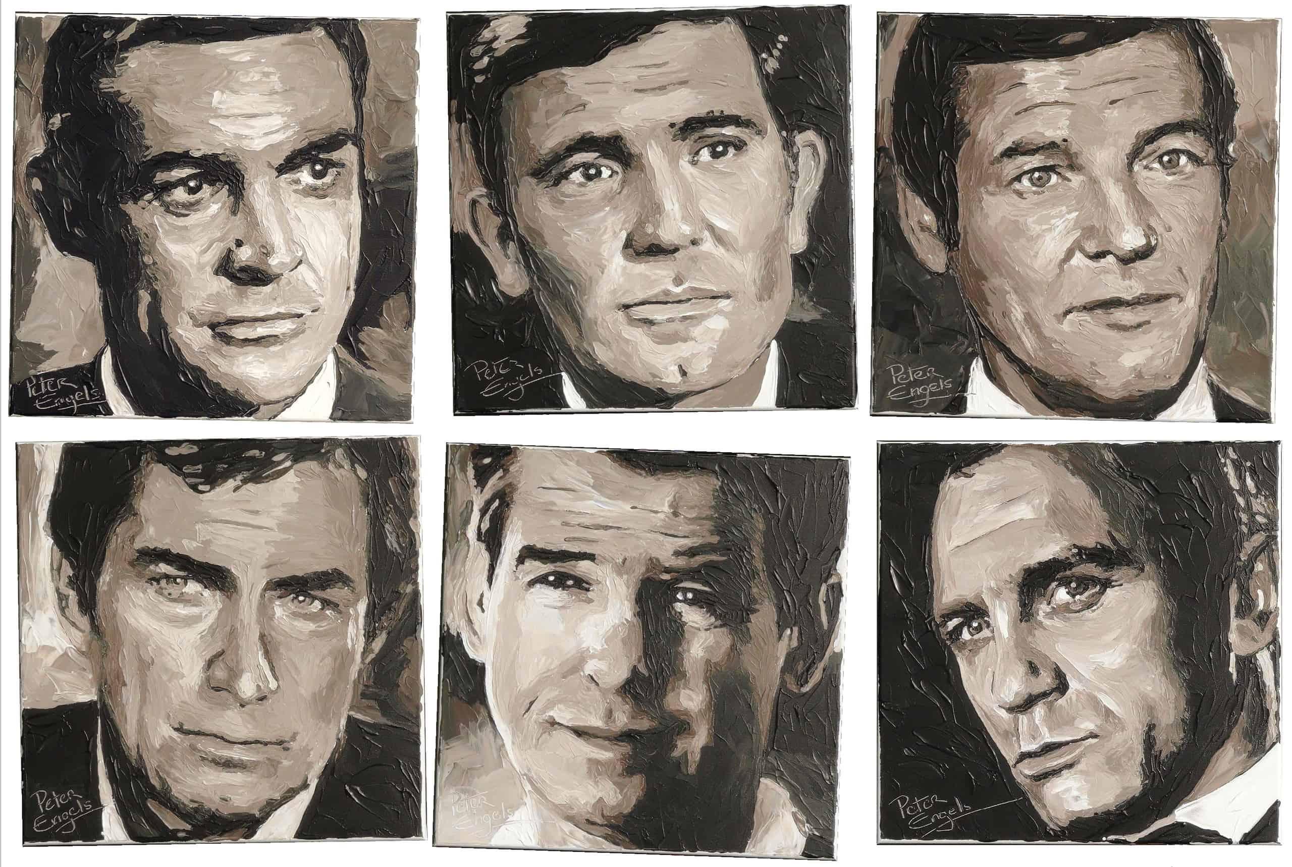 James Bond Actors Sold Portrait Painting By Artist Peter