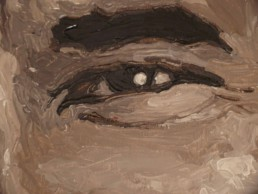 Detail of the Barack Obama portrait painting by Peter Engels