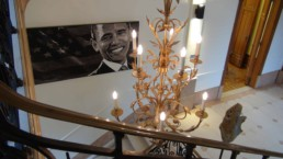 Barack Obama portrait painting by Peter Engels in Kasteel Tivoli (Tivoli Castle)