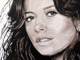 Catherine Zeta-Jones-painted by Peter Engels