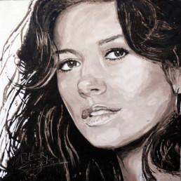 Catherine Zeta-Jones-painted by Peter Engels