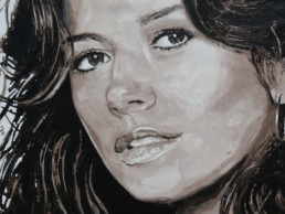 Catherine Zeta-Jones portrait painting by Peter Engels