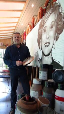 Estee Lauder by artist Peter Engels-work in progress