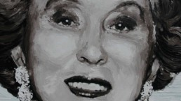 Estee Lauder portrait painting by Peter Engels