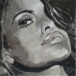 Eva Mendes portrait painting by Peter Engels