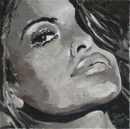 Eva Mendes portrait painting by Peter Engels