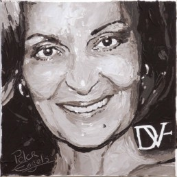 Fashion Designers Diane von Furstenberg portrait painting by Peter Engels