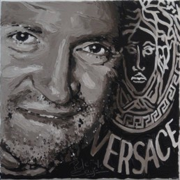Fashion Designers Gianni Versace portrait painting by Peter Engels