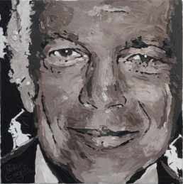 Fashion Designers Ralph Lauren portrait painting by Peter Engels