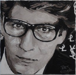Fashion Designers Yves Saint Laurent portrait painting by Peter Engels