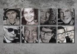 Fashion Designers by Peter Engels-Coco Chanel-Diane von Furstenberg-Gianni Versace-Georgio Armani-Karl Lagerfeld-Ralph Lauren-Yves Sain-Laurent-Dolce Gabbana