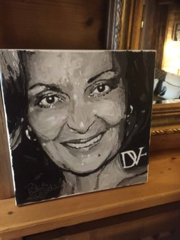 Fashion Designers portrait painting by Peter Engels Diane von Furstenberg by Peter Engels