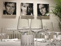James Bond Actors portrait painting by Peter Engels