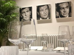 James Bond Actors portrait painting by Peter Engels