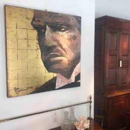 Marlon Brando Godfather portrait painting by Peter Engels