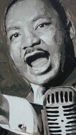 Martin Luther King portrait painting by Peter Engels