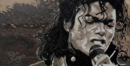 Michael Jackson painted by Peter Engels