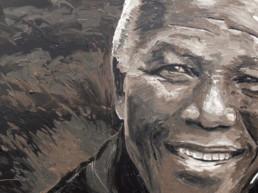 Nelson Mandela painted portrait by PeterEngels