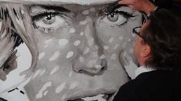 Nicole Kidman portrait painting by Peter Engels