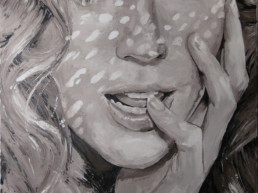 Nicole Kidman portrait painting by Peter Engels