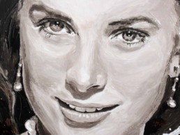 Grace Kelly portrait painting