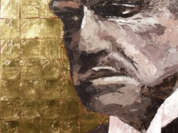 The Godfather Marlon Brando portrait painting by Peter Engels