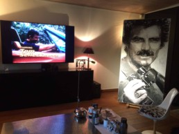 Thomas Magnum - Tom Selleck portrait painting by Peter Engels