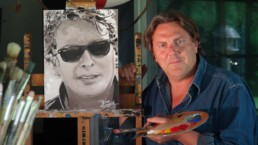 Marketing specialist and professor Peter Lavaerts. Commission portrait painting. Geschilderd portret in opdracht. Portrait peint sur commande. Im auftrag gemaltes porträt.