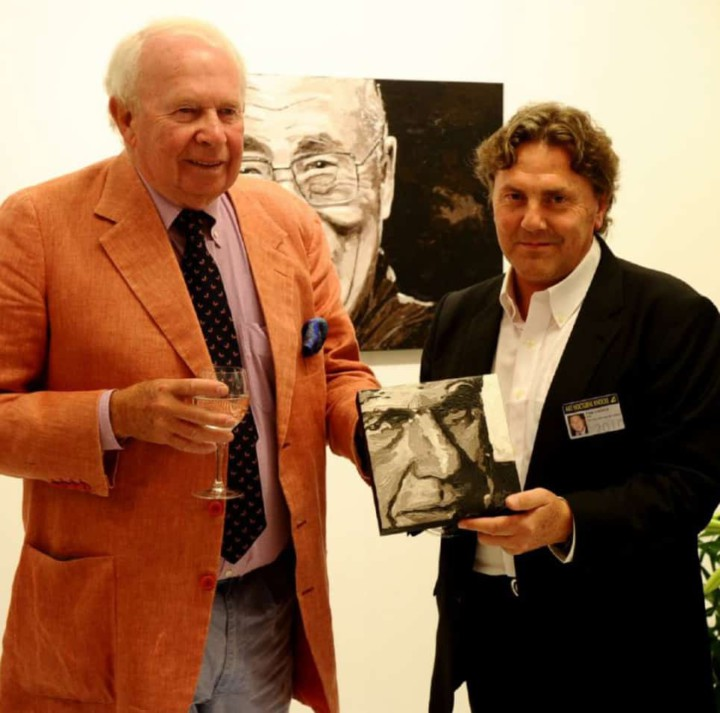 Leopold Lippens, mayor of Knokke. Portrait painting by Peter Engels