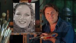Portret schilderen door Peter Engels