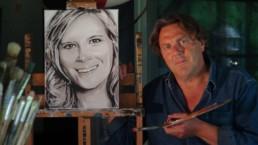 Commissioned portrait painting. Portretschilderij in opdracht. Portrait peint sur commande. Im auftrag gemaltes porträt.