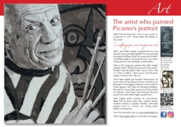 Magazine article obout the Pablo Picasso portrait painting by Peter Engels