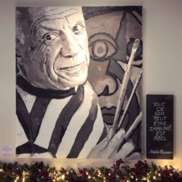 Pablo Picasso portrait painting by Peter Engels