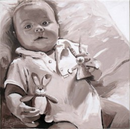 Baby portrait painting by Peter Engels