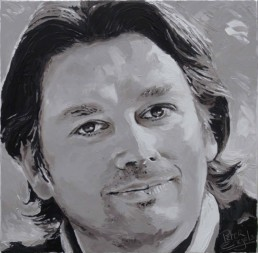 Bart Claessens CEO Silverspoon portrait painting by Peter Engels