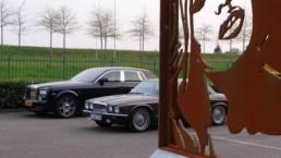 Brigitte Bardot-Rolls Royce-Jaguar-sculpture by Peter Engels