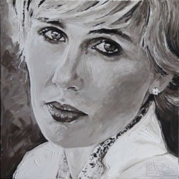 Cindy, Kasteel Tivoli. Commissioned portrait painting by Peter Engels