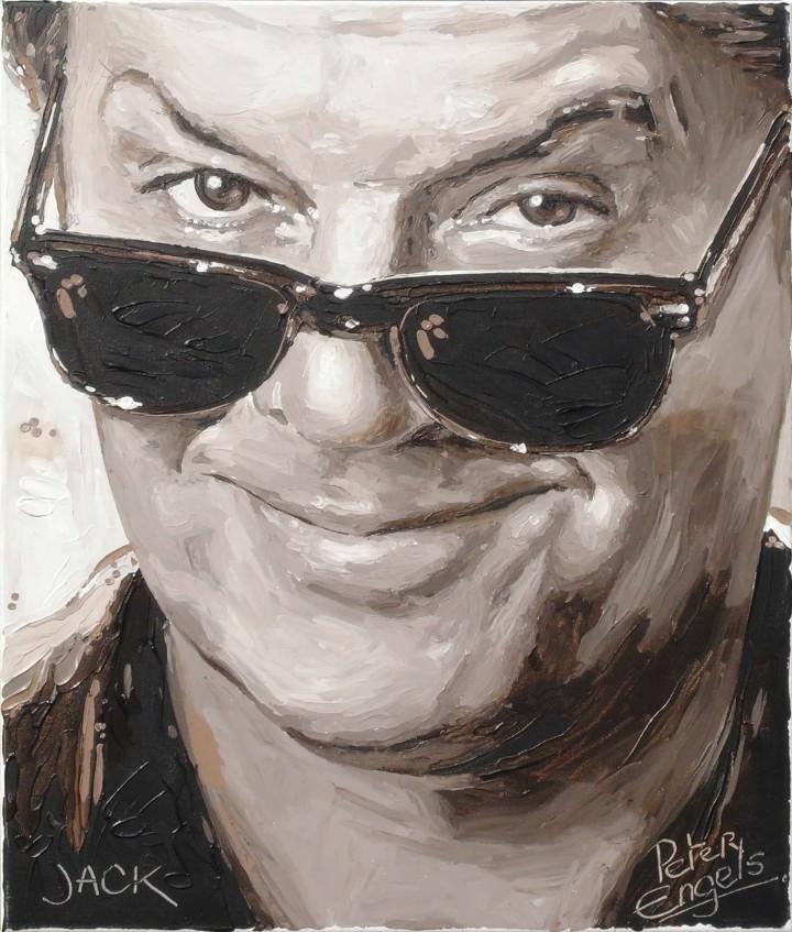 Jack Nicholson portrait painting by Peter Engels