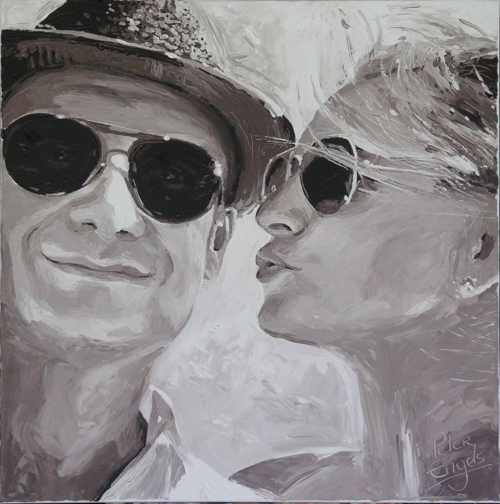 Wedding portrait painting by Peter Engels