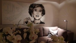 The Estee Lauder portrait painting by Peter Engels revives her villa in Cannes, France