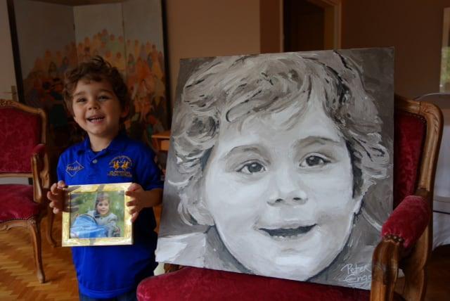 Commission portrait painting by Peter Engels