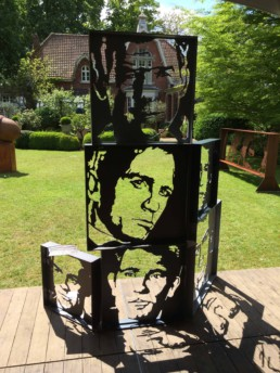 James Bond actors sculpture by Peter Engels