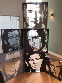 Exhibition of the James Bond actors sculpture by Peter Engels