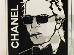 Karl Lagerfeld Chanel sculpture by Peter Engels