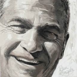 Luc Germis portrait painting by Peter Engels