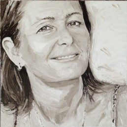 Natacha De Scheemaecker, portrait painting by Peter Engels