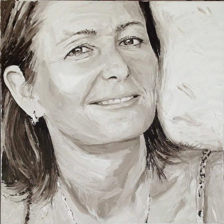 Natasha, portrait painting by Peter Engels